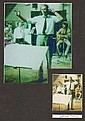 George Martin Signed Postcard and Beatles Display.