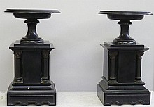 Paire de coupes en marbre et bronze Epoque Nap III Haut 26 cm