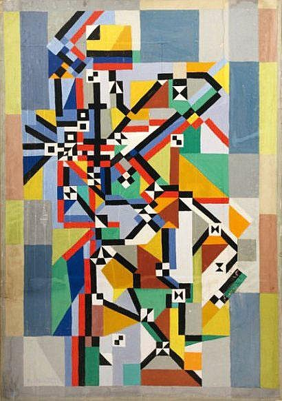 Pierre de BERROETA (1914) Composition abstraite