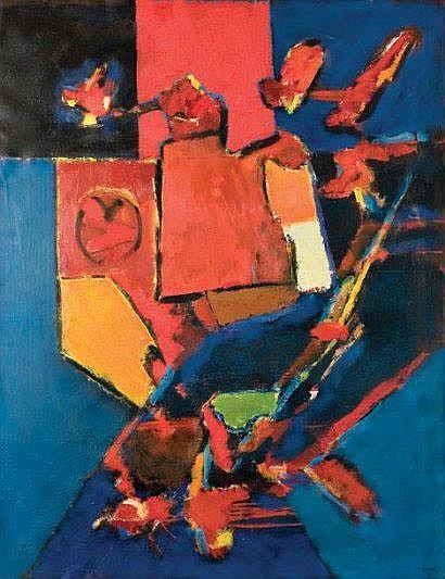 Ion PACEA Intérieur c. 1988 huile sur papier