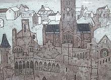 § Valerie Thornton (British, 1931-1991) - St David's  - etching and aquatint