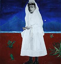 § Renee Spierdijk (Dutch, born 1957, Amsterdam) - 'Desert Rose' - oil on canvas