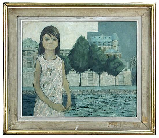 Jack Hughes (British, 20th Century) - Parisian waif - signed lower right