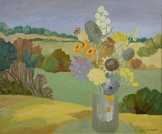 Ruth Burden (British, b.1925) Golden Flowers at