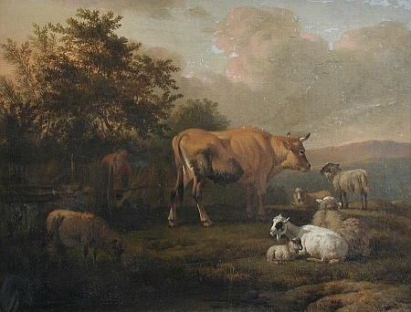 Jacob van der Does    - Cattle and Sheep
