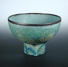 Abdo Nagi, a large footed stoneware bowl,