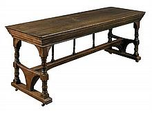 Philip Webb for Morris & Co., an oak centre table, circa 1870,