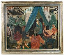 § Geoffrey Tibble (British, 1909-1952) The Nativity signed on the reverse