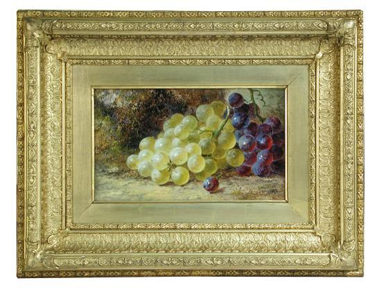 Thomas Whittle the Elder (British, 1803–1887) Still life of plums; and Still life of white grapes signed lower right