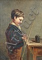 """Charles Callcott - (19th Century) - The Young Fisherman - signed lower left with monogram """"CC"""""""