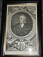 Houbraken after Kneller Five portraits of British authors, including John Locke, John Dryden etc  Engravings, published 1743 by...