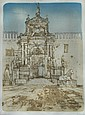 Richard Beer (British, b.1928) - Campo del L'Arsenale, Venice  - signed - etching
