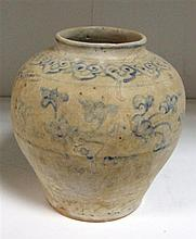 A provincial Ming blue and white jar