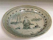 A provincial Ming blue and white dish