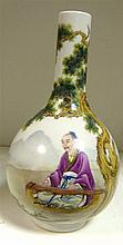 A Yongzheng style famille rose bottle vase