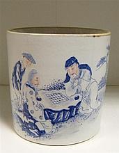 A 19th century brush pot,