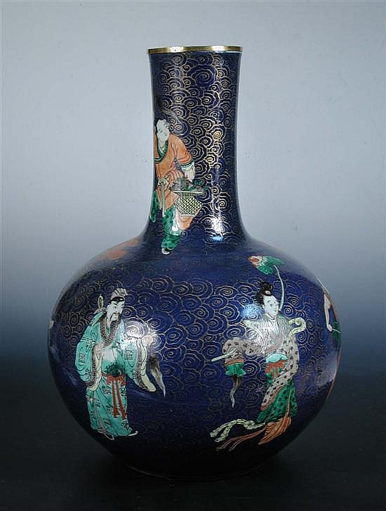 A late 19th/early 20th century bottle vase