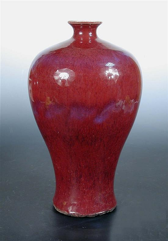 A 19th century flambe meiping,