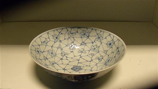 A 19th century blue and white bowl,