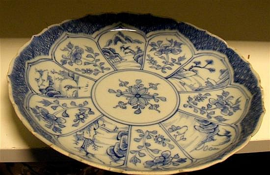 An 18th century with blue and white dish,