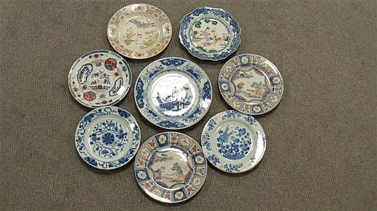 A collection of eight 18th century Chinese plates,