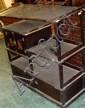 A late 19th century black lacquer shodana,