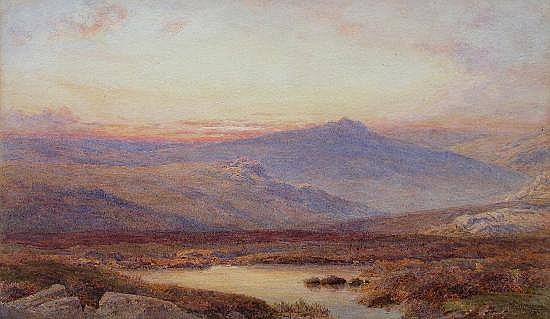 S G William Roscoe (British, 1852-1922) - The Scottish Highlands - watercolour