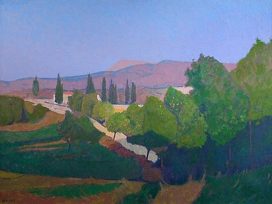 Colin Hayes, RA (British, 1919-2003) -  Ag Giorgio, Evvia, Greece  - signed lower left