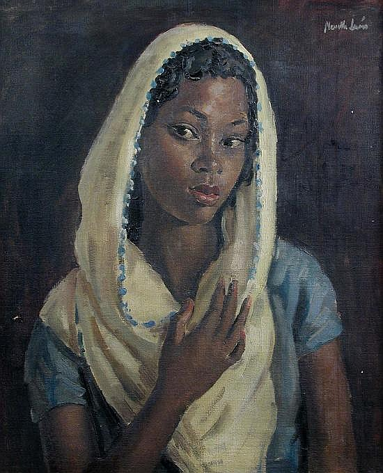 Alfred Neville Lewis (South African, 1895-1972) Nubian Girl signed upper right