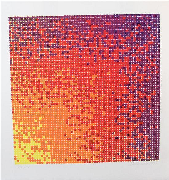 David Roth (American b.1942) Composition 3  Serigraph hand signed and numbered 136/150, 1979  58 x 58cm (image)