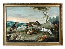 Follower of Paul de Vos (Flemish, 1595-1678) A Boar Hunt