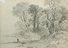 John Constable, RA (British, 1776-1837) Study of Trees c. 1802-3