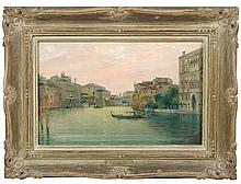 A Verutti (Italian, 19th Century) -  The Grand Canal, Venice  - signed lower right