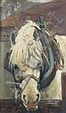 Frederick George Cotman, RI (1850-1920)  - Heavy Horse Watering - oil on panel, Frederic George Cotman, Click for value