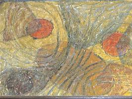 Nina Hosali (Indian, 20th Century) - Cosmic Elements - oil on board
