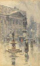 """Charles Watson, RE - Mansion House, London signed lower left """"Mansion House 1880 / Charles J Watson"""""""""""