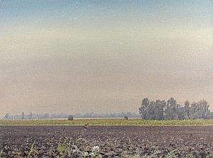 Anthony Day (British, 20th Century) Poor's Fen Farm signed lower left