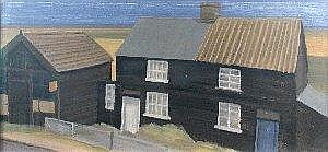 Anthony Day (British, 20th Century) Cottages at Brandon Creek signed lower left