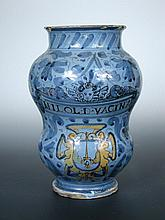 A 17th/18th century Italian albarello, possibly Venetian,