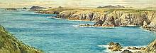 Attributed to John Brett (British, 1830-1902) View of St Bride's Bay, Ramsey Island, Pembrokeshire