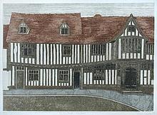§ Valerie Thornton (British, 1931-1991) The Guild Hall, Lavenham, Suffolk signed lower right
