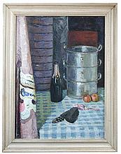 § Vanessa Bell (British, 1879-1961) - The Kitchen Table, Charleston, 1948 - signed lower right with initials