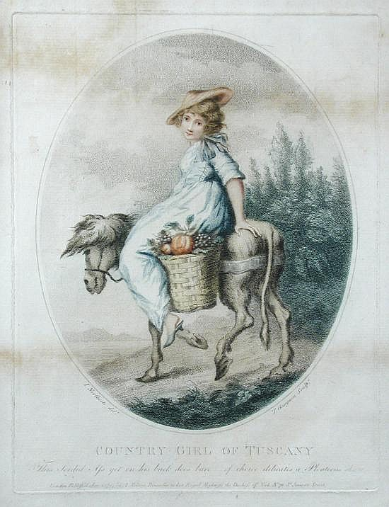 Thomas Gaugain (French, 1756-1812) engraver, after James Northcote (British, 1746-1831) James Northcote (1746-1831)  - A Country Girl o