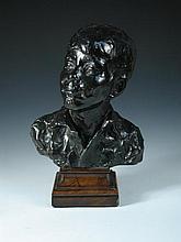 Fausta Vittoria Mengarini, (Italian, 1893-1952), a bronze bust of a boy,