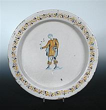 An Italian maiolica dish, possibly 16th century,