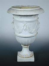 Attributed to Derby, a 19th century biscuit porcelain urn,