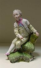A 19th century Hochst figure