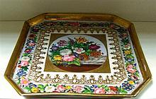 A mid 19th century Paris porcelain tray,