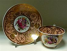 A Swansea cup and saucer