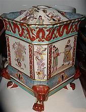 A 19th century Mason's ironstone pot pourri vase, stopper and cover,